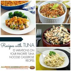 Recipes with Tuna: 15 Variations on Your Favorite Tuna Noodle Casserole Recipes - Perfect for Lent! Fish Casserole, Tuna Noodle Casserole Recipe, Seafood Casserole Recipes, Tuna Recipes, Casserole Dishes, Seafood Recipes, Cooking Recipes, Yummy Recipes, Chicken Recipes