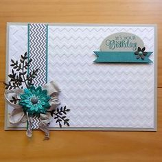 COUTURE-CREATIONS-EMBOSSING-FOLDER-Chevron-Zig-Zag-Birthday-5x7-SPECIAL-BNIP | #couturecreationsaus #embossingfolders #cards