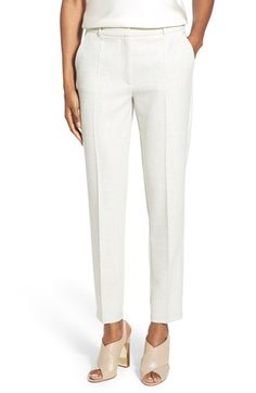 BOSS Textured Slim Ankle Pants available at #Nordstrom