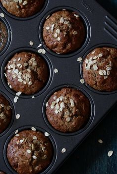 This banana rye flour muffins will make a perfect start in the morning, or as a snack. They are packed with nutritional fibers, ans lots of minerals and vi Healthy Cupcakes, Gluten Free Cupcakes, Healthy Cake, Healthy Desserts, Vegan Baking, Healthy Baking, Muffin Recipes, Cupcake Recipes, Flours Banana Bread