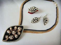 Seturi de bijuterii lucrate manual.  Kit de lux perla.  Ajshat.  Masters Fair.  Manual, inelul cu margele autorului