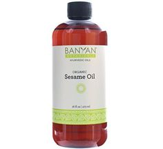 Banyan Botanicals Sesame Oil, 16 oz - USDA Organic - Pure & Unrefined - Ayurvedic Oil for Hair, Skin, & Oil Pulling *** Click on the image for additional details.