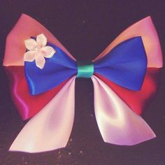 Mulan  Disney ribbon hair bow clip by EclecticGeekette on Etsy, $7.75