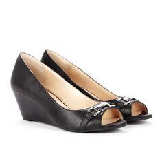 Open toe wedge - Joanna// love the bit as some shine!