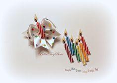 7/8 - Birthday Candle Dog Bow by BellasDogBows, $9.99 USD