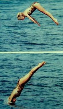 Diana Frances - a beautiful swimmer. Look at that form!!