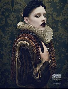 From a very inspirational Vogue shoot. Vogue Russia, December 2010