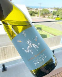 Risky Business King Valley Pinot Gris 2020 • Travelling Corkscrew Pinot Gris, Risky Business, Fresh Apples, Shades Of Yellow, Travelling, King, Bottle, Flask