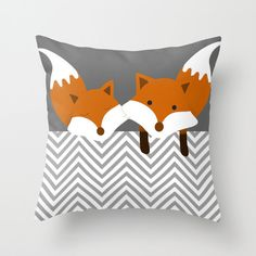 Fox Pillow Personalized - Decorative Gift for her him Birthday Cute Animals Bedroom Nursery Woodland Animal Bedroom, Pillow Inserts, Pillow Covers, Fox Pillow, Funny Bathroom Decor, Woodland Nursery, Fox Nursery, Animal Pillows, Dose