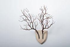Elkebana Wooden Wall Trophy