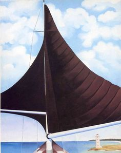 Georgia O'Keeffe. Brown Sail, Wing on Wing, Nassau