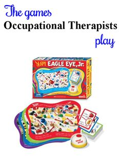 Another visual perceptual winner from I SPY. Kids like the game bell. My Five Senses, Spy Kids, Therapy Games, Eagle Eye, Occupational Therapist, Fall Crafts For Kids, I Spy, Eyes, School