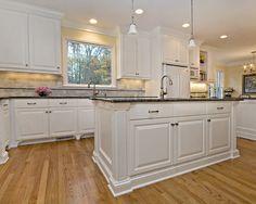 Blue Pearl Granite Countertop : White Kitchen Cabinets With ...
