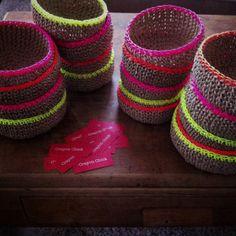 @Michelle Harvey - @Nutscene (1922) Ltd lovin' the jute crochet baskets!
