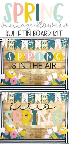 This is a fun and beautiful Spring bulletin board kit that is so cute and easy! The vintage flowers make it pop! It comes with a tulip writing piece for students to display as well. It looks great on your board or door during March/April/May!