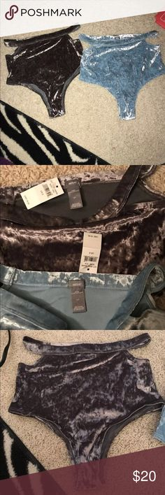 2 Velvet High Waisted Aerie Underwear Super soft Aerie underwear both are size smalls. There is blue and a black. These are cheeky and have slits at the top NWT!! price is for BOTH aerie Intimates & Sleepwear Panties