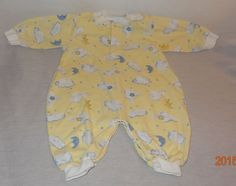 Baby Boy Girl Pajamas Sleeper Yellow Tad Little 0-6 Months Unisex Clouds Moon #TadLittle #OnePiece