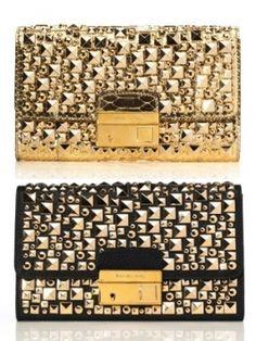 metallic clutches by Michael Kors