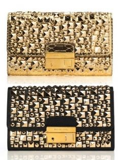 metallic clutches by Michael Kors