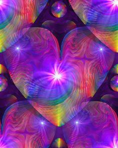 Chakra Heart Energy Art Reiki Rainbow Swirl Psychedelic Art 8 x 10 Print