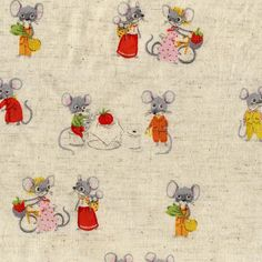 Heather Ross Nursery Versery Vintage-Reproduction fabrics...launching in June. I need these in the gray/yellow colorway.