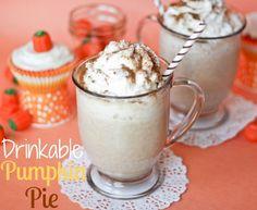 Drinkable Pumpkin Pie -- tastes just like pumpkin pie and is coffee free, so the kiddos can enjoy it too!!