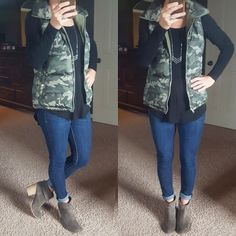 Wear It For Less: What I Wore: Camo Vest