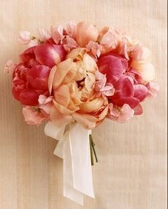 Peonies & Sweet Pea Wedding Bouquet