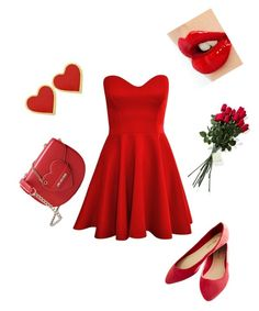 """""""red"""" by kristenf56 ❤ liked on Polyvore featuring Wet Seal, Hanky Panky, Charlotte Tilbury and Love Moschino"""