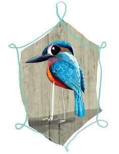 Blue Bird + Illustration | E.W. Thomason