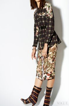 The Mrs. Carter Show World Tour arrives at the Barclays Center in Brooklyn. Wear a grunge-rococo, Beyonc-worthy pairing from Riccardo Tisci for Givenchy.Givenchy floral and check shirt, $1,440Neiman Marcus, Dallas, 214.741.6911Givenchy Rose print silk chiffon skirt, $2,345Neiman Marcus, Dallas, 214.741.6911