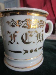 monogrammed shaving mug -- F.C. H.