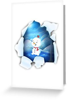 Shop Tear It! ~ Snowbaby Line Greeting designed by We~Ivy. Art Prints For Home, Presents For Friends, My Themes, Website Themes, Good Cause, Art Classroom, Art Boards, Ivy, Snowman