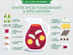 Winter-Spiced Pomegranate & Apple Sangria: This light and fruity festively-spiced sangria is the perfect solution for any holiday entertaining occasion. Mix up a batch well ahead of the party, put out in a pretty pitcher or beverage dispenser and let guests help themselves. Done! #partyfriendly