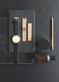 Shore Projects watch | Love having the option of the gold metal band or the black leather band.