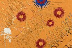 """Diamond Jubilee Project"" Nusra Latif Qureshi 2013 Size: 1 x 1.5 m Materials: wool, cotton Weavers: Sue Batten, Chris Cochius. Australian Tapestry Workshop. Photograph: John Brash #tapestry"