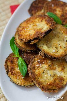 Aubergines Frites au Parmesan et à l'Origan - Food for Love