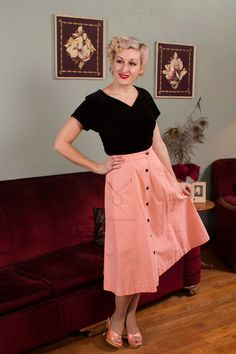 Vintage 1940s 40s stunning vibrant Print tailored Blouse Skirt Great Buttons M 40 Bust M L