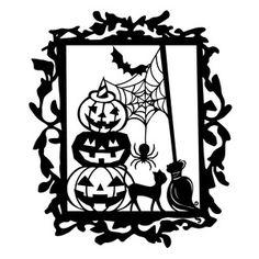 Silhouette Design Store - View Design #157375: witch halloween scene