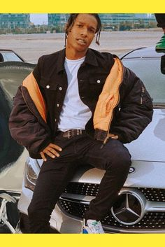 ASAP Rocky wearing Vetements Alpha Industries Oversized Reversible Bomber