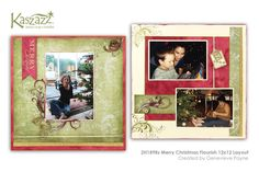 2H1898s Merry Christmas Flourish 12x12 Layout