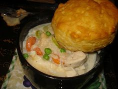 Mmmm Rachel Ray's Chicken Mug Pie. Delicious every time!