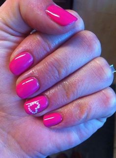 Shellac nails valentines - Google Search
