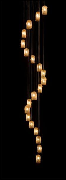 Sarug Blown Glass Pendant Chandelier, $240 per pendant on www.ArtisanCraftedLighting.com