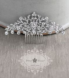 Bitter Sweet Jewellery. Bridal Collection. #VintageInspired #classic #rhinestone #CZ #HairComb #crystal #WeddingJewelry #floral #sparkle #elegant #unique