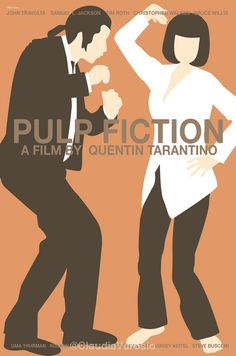 Pulp Fiction (1994) - Minimal Movie Poster by Claudia Varosio #minimalmovieposter #alternativemovieposter #90smovies #claudiavarosio #pulpfiction