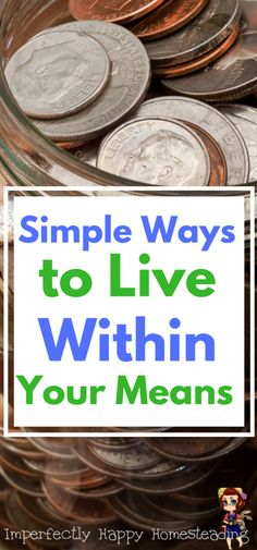 Simple Ways to Start Living Within Your Means!
