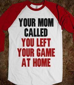 Hahaha softball shirt!