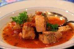 Mediterranean salmon soup