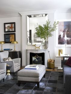 A Gorgeous Modern Living Room In An Elevated Bachelor Pad Home Design